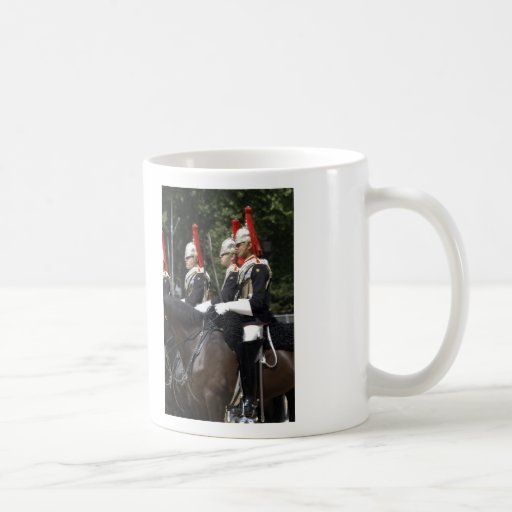 Soldiers of the Household Cavalry in London Mug