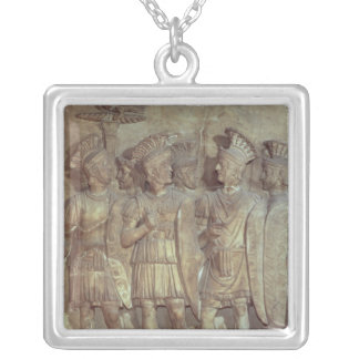 Soldiers of the Praetorian Guard, relief Silver Plated Necklace
