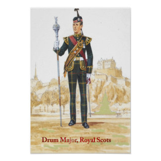 Soldiers of the Queen,Drum Major, Royal Scots Poster