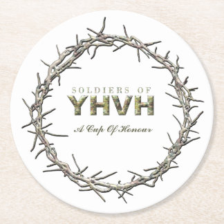 SOLDIERS OF YHVH Christian Round Paper Coaster