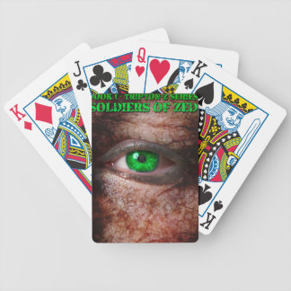 Soldiers of ZED Cover 1st Edition Bicycle Playing Cards