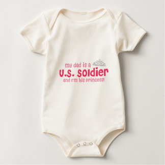 Soldier's Princess Baby Bodysuit
