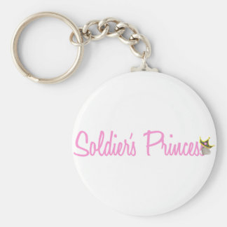 Soldier's Princess Basic Round Button Key Ring