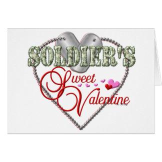 Soldiers Sweet Valentine Card