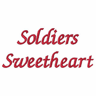 Soldiers Sweetheart Embroidered Hooded Sweatshirts