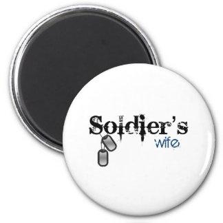 Soldier's Wife 6 Cm Round Magnet