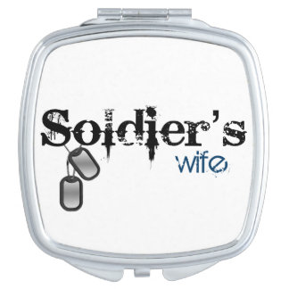 Soldier's Wife Compact Mirror