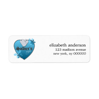 Soldier's Wife Heart Dog Tags Address Labels