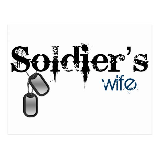 Soldier's Wife Post Card