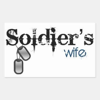 Soldier's Wife Rectangular Sticker