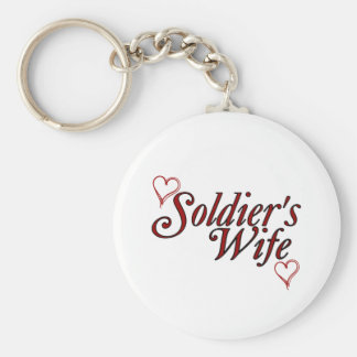 Soldier's Wife: Scribble Hearts Basic Round Button Key Ring