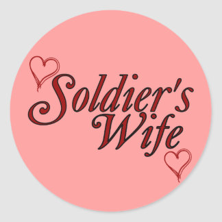 Soldier's Wife: Scribble Hearts Round Sticker