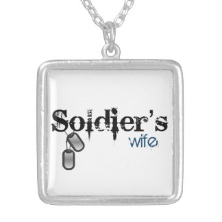 Soldier's Wife Silver Plated Necklace