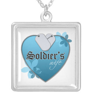 Soldier's Wife Square Pendant Necklace