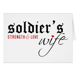 Soldier's Wife: Stength & Love Card