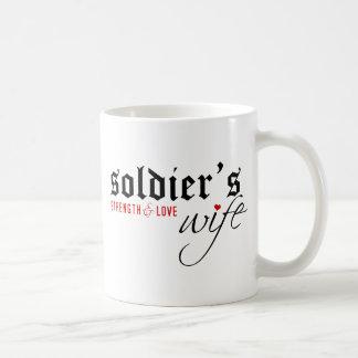 Soldier's Wife: Stength & Love Coffee Mugs