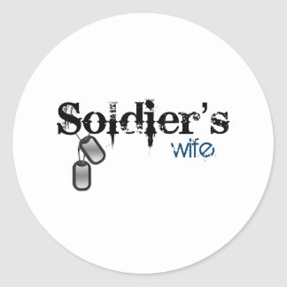 Soldier's Wife Round Stickers