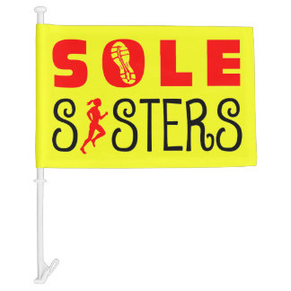 Sole Sisters Car Flag