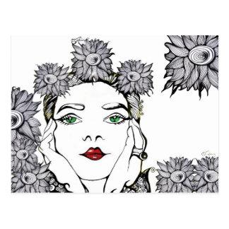 Soleil Flower Girl Portrait Postcard