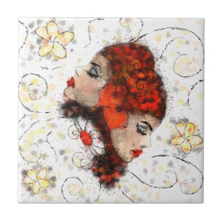 Solemissia - the real flower ceramic tile