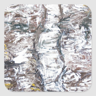 Solemn Passage abstract expressionism Stickers