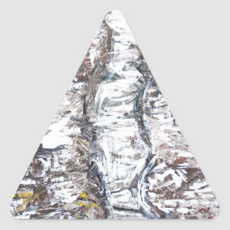 Solemn Passage (abstract expressionism) Triangle Sticker