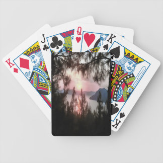 Solemn Sunset Bicycle Playing Cards
