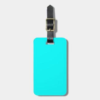 Solid Aqua Blue Luggage Tag