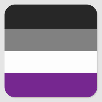 Solid Asexual Pride Flag Square Sticker