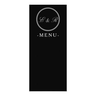 Solid Black with White Wedding Detail 10 Cm X 24 Cm Invitation Card
