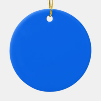 solid blue solid background solid color ceramic ornament