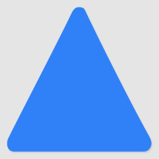 solid blue solid background solid color triangle sticker