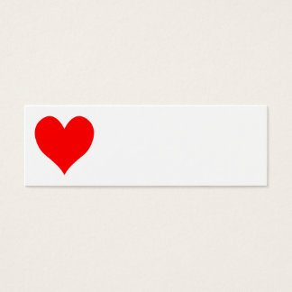 Solid Bright Red Cute Heart Mini Business Card