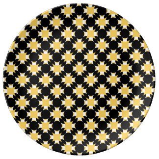Solid Circle Cross by Kenneth Yoncich Porcelain Plate