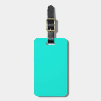 Solid Color: Bright Aqua Luggage Tag