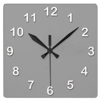Solid Color: Dark Gray Square Wall Clock
