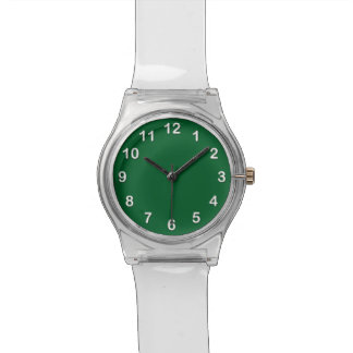 Solid Color: Forest Green Wristwatch