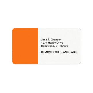Solid Color: Pumpkin Orange Address Label