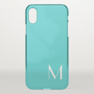 solid color turqoise - you monogram iPhone x case