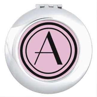 Solid Color with Monogram Compact Mirrors