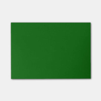 Solid Colour Dark Green Post-it Notes