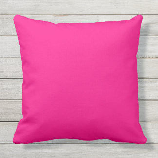 solid colour hot pink outdoor cushion