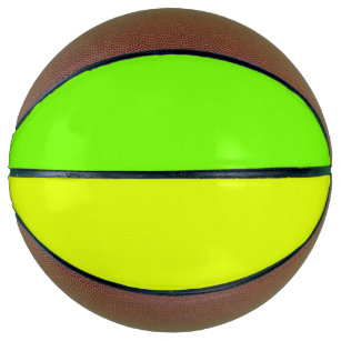 solid colour neon  yellow and green basketball