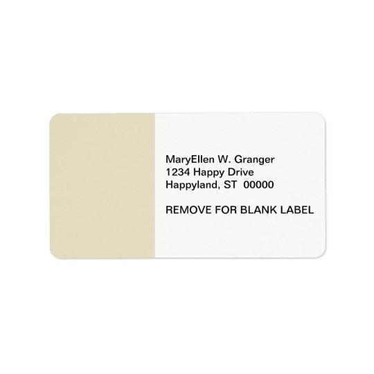 Solid Colour: Sand Beige Label
