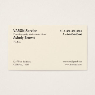 Solid Cream Professional Simple Business Cards