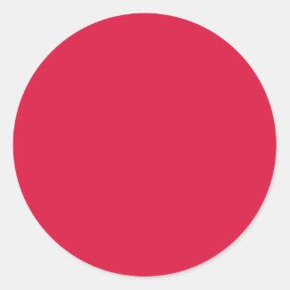 Solid Crimson Round Sticker