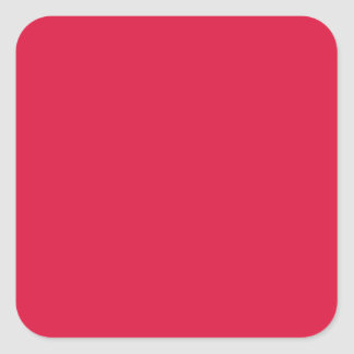 Solid Crimson Stickers