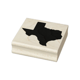 Solid Customizable Texas State Rubber Art Stamp