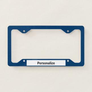 Solid Dark Blue Licence Plate Frame