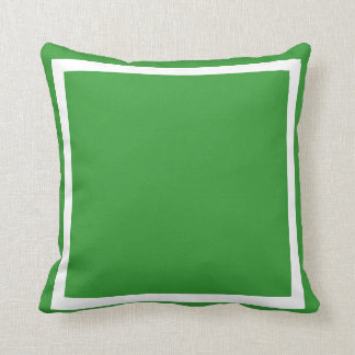 solid Dark forest green plain pillow